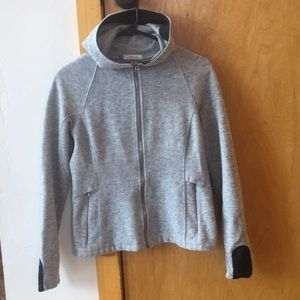 ibex Tops - ibex womens wool blend hoodie small grey